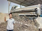 30台河道淤泥脱水机正常运行中