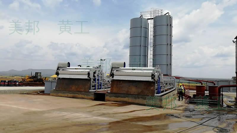 淮安洗沙厂使用带式压滤机对泥浆脱水